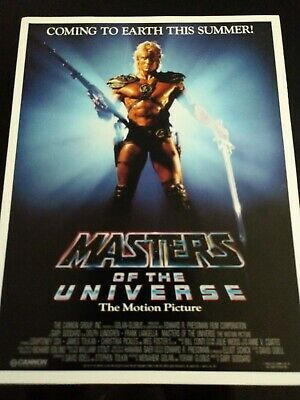 $28.99 • Buy 1987 Motu Masters Of The Universe Movie Motion Picture Gloss Ad Poster Fold Out