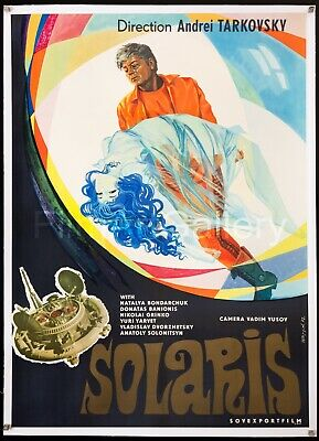 $1495 • Buy SOLARIS 1972 Soviet/English 32 X45  L/B Poster Andrei Tarkovsky Film/Art Gallery