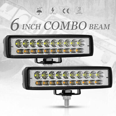AU22.99 • Buy 2x 6 Inch 60W CREE LED Work Light Bar Spot Flood Driving Offroad Fog Lamp Truck
