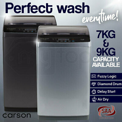 AU509 • Buy CARSON Top Load Washing Machine Laundry Automatic Washer Dry LED Display 7KG 9KG