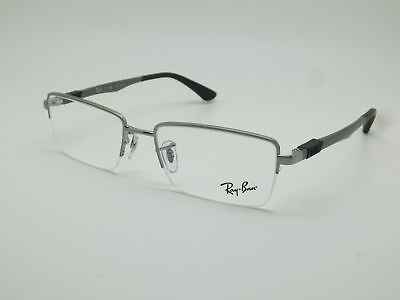 58f1a70036a NEW Authentic Ray Ban RB 6263 2502 Gunmetal Semi-Rimless 52mm RX Eyeglasses  • 59.99