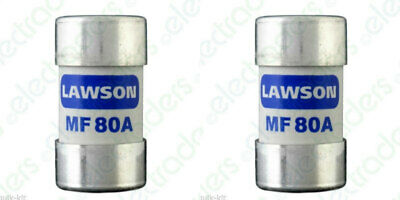 2 X Lawson MF80A Cut Out Fuses - 80 Amp BS88 • 10.50£
