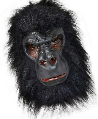 Masquerade Carnival Forrest Animal Gorilla Ape Monkey Overhead Latex Mask New • 8.50£