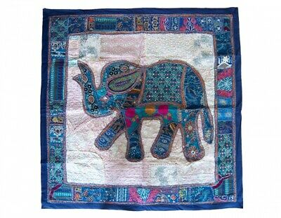 £52.38 • Buy India Hand Embroidery Carpet Wall Hanging Applique Handcrafted Elephant Design