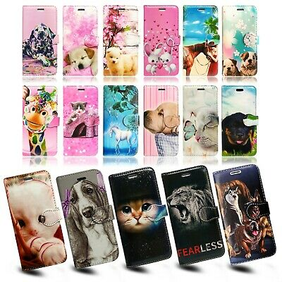Animals Print Book Wallet Flip Phone Case Cover For Apple Iphone Se 1st Gen More • 0.99£