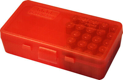AU7.29 • Buy MTM Pistol Ammo Box 50 Round Flip-Top 9mm 380 ACP Clear Red P50-9M-29