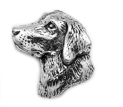 Small Labrador Retriever Dog Badge Brooch English Silver Pewter In Gift Pouch • 5.90£