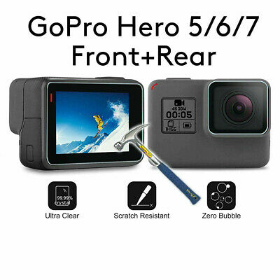 $ CDN1.82 • Buy Tempered Glass Screen Protector For GoPro Hero 7 6 5 Lens Caps Anti-Scratch 2 PC