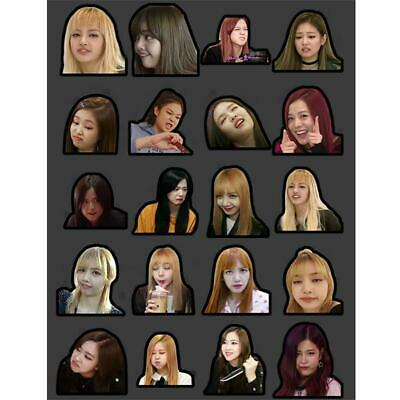 $ CDN5.11 • Buy Kpop Blackpink Funny Expression Adhesive Photo Sticker Jisoo Jennie DIY Sticker