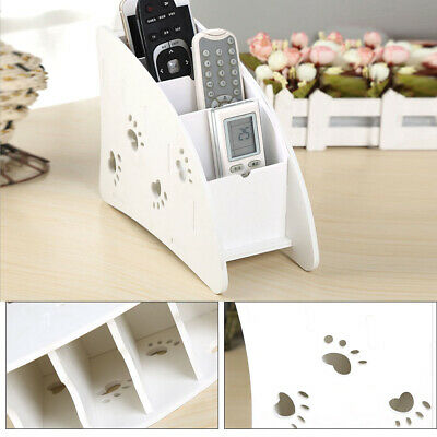 Wooden Lovely Air Conditioner TV Remote Control Holder Storage Case Box White • 5.99£