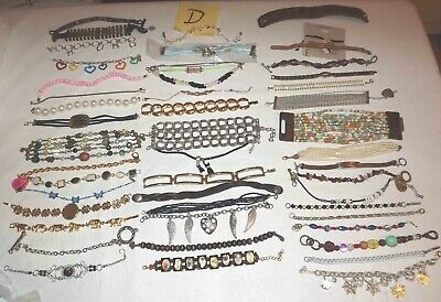 $ CDN53.74 • Buy Huge Lot D Of 48 Bracelets Jewelry Chain, Link, Beaded, Charm & More  *lqqk*