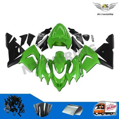 $509.99 • Buy Fit For Kawasaki 2004 2005 ZX10R Injection Molded Green Black Fairing Kit Y006