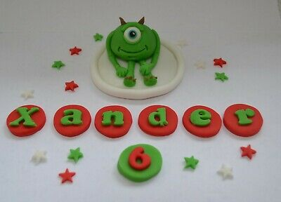 Handmade Edible Monsters Inc, Mike Wazowski, Cake Topper, Decoration, Birthday • 12.99£
