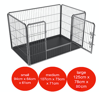 4pc Heavy Duty Puppy Play Pen Dog Crate Whelping Box Rabbit Enclosure Dog Cage • 64.95£