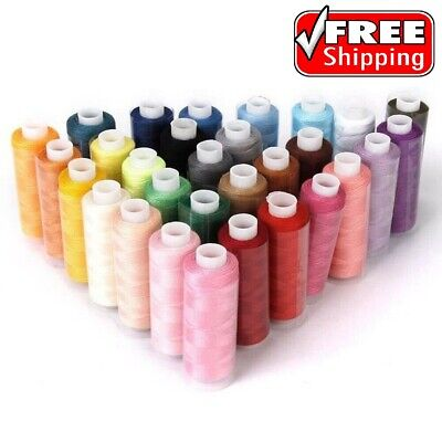 $19.99 • Buy Machine Embroidery Thread Sewing Polyester 30 Spools Lot Colors Each 250 Yards