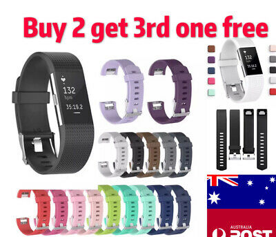 AU4.99 • Buy Replacement Wristband For Fitbit Charge 2 Silicone Band Watch Strap Bracelet New