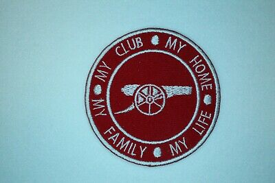 £3.25 • Buy ARSENAL FC - MY CLUB * MY HOME * MY FAMILY * MY LIFE Iron On / Sew On Patch