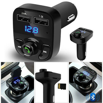 Wireless Bluetooth Handsfree Car Kit FM Transmitter MP3 Player Dual USB Charger. • 4.29£