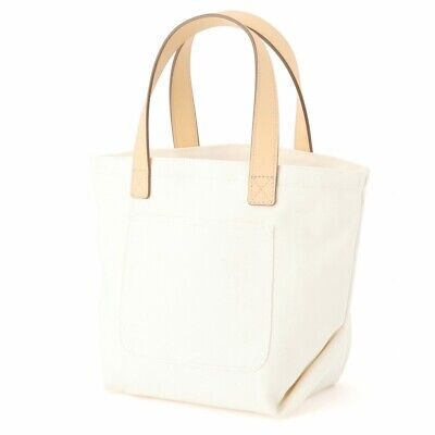 $28.34 • Buy MUJI Water-repellent Organic Cotton Leather Use Tote Bag Small Ecru MoMA