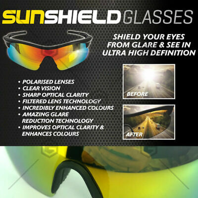 AU18.65 • Buy Sun Shield ​ Tac Glasses Au Standard Compliant Uv Protection Polarised