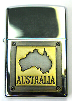 AU33.50 • Buy NEW Zippo Lighter - Souvenir Range  - L9936- Australia Badge Gold