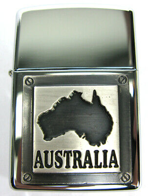 AU33.50 • Buy NEW Zippo Lighter - Souvenir Range - L9937- Australia Badge Silver