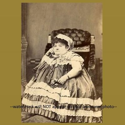$ CDN4.87 • Buy Vintage Fat Lady Midget PHOTO Circus Freak Scary Creepy Carrie Akers C1888