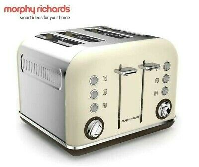 AU88 • Buy NEW Morphy Richards Accents Sand 4 Slice Toaster,Cream Color,242101