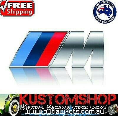 AU18 • Buy Bmw Style M Sport Badges/decals X2! 3d Chrome, Self Adhesive. Metal Construction
