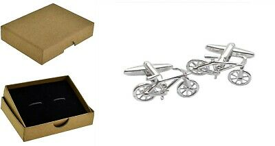 £4.89 • Buy Bike Bicycles Cycling Cyclists Cufflinks Men's Dads Fathers Day +Box BE46