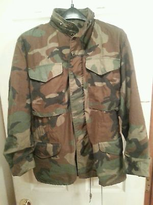 $20.95 • Buy US Army M65 Cold Weather Field Jacket Woodland Camo - Size Small-Regular