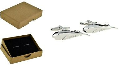 £5.99 • Buy FEATHERS Novelty Cufflinks. Dads Men's Fathers Day Birthdays +Box BE77