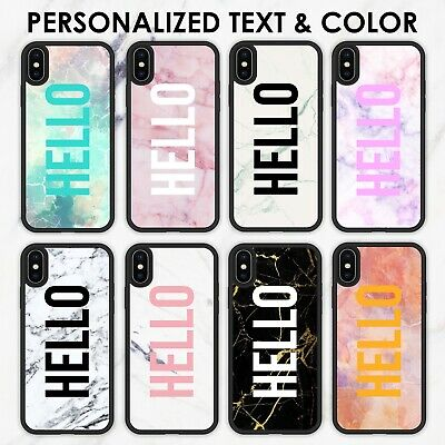 AU11.99 • Buy For IPhone X 11 Case Marble Custom Personalized IPhone 8 7 Plus Cover SE XR