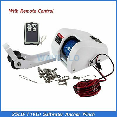 AU219.99 • Buy Boat Anchor Winch Electric Marine Saltwater With Wireless Remote Control Kit 25