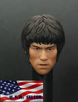$36.50 • Buy 1/6 Bruce Lee Head Sculpt For 12  Hot Toys Enterbay PHICEN Male Figure Body❶USA❶