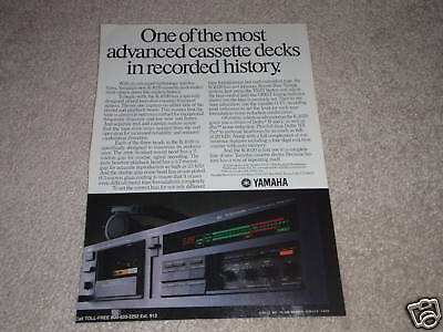 AU8.49 • Buy Yamaha K-1020 Cassette Deck Ad From 1985, Specs, Nice