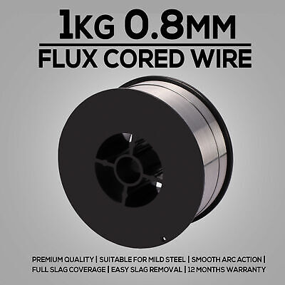 1kg 0.8mm Gasless Mig Welding Wire E71T-GS Flux Cored Welder Wire All Positions • 8.99£