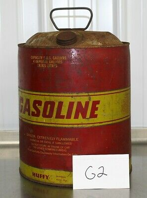 $ CDN17.44 • Buy Vintage 5 Gallon Steel Gas Can HUFFY With Vent  Flexible Spout Fuel  G2