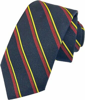 £8.99 • Buy Lifetime Guarantee Royal Marines Regiment Woven Striped Tie RM Made In GB