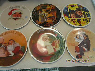 $ CDN35.12 • Buy 6  Knowles Norman Rockwell Plates CHRISTMAS  COLLECTION Limited Edition 1980's