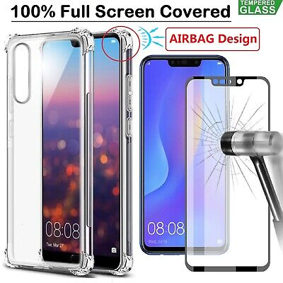 Huawei P40 Pro Mate 20 Pro Lite P30 Case Cover + Tempered Glass Screen Protector • 4.48£