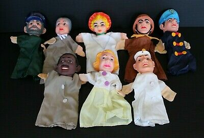 $59.99 • Buy Vintage Mr. Rogers Neighborhood Hand Puppets Lot Of 8 Rubber Faces Cloth Bodies