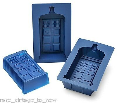 NEW Doctor WHO Licensed 2 Set TARDIS Silicone CAKE Pan Jello Mold Chocolate Dr  • 20.01£