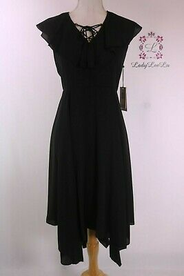 $ CDN56.96 • Buy Ivanka Trump Women's Cap Sleeve Ruffle Hem Dress ID8G1JBH Size 4 New NWT