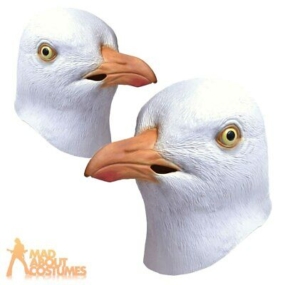Adults Full Overhead Seagull Mask Bird Beach Funny Fancy Dress Costume Accessory • 14.29£