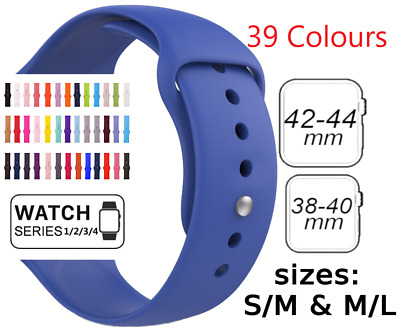 AU4.75 • Buy Sports Silicone Bracelet Strap Band For Apple Watch Series 5 4 3 38 40 42 44mm