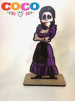 Disney Coco ~ Mama Imelda Wood Centerpiece Candy Table Party Birthday Decoration • 7.48£
