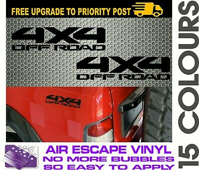 AU6.90 • Buy 4x4 OFF ROAD 4wD Decals Stickers PAIR 200mm