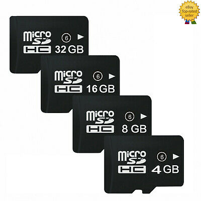 4GB 8GB 16GB 32GB CLASS 6 Micro SD TF Flash Memory Card For Camera Mobile Phones • 7.99$