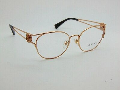 803dd7361a71f NEW Authentic VERSACE Mod. 1250 1412 Rose Gold 52mm RX Eyeglasses • 85.99